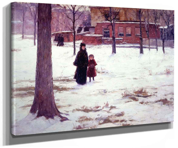 16Th Street Indianapolis (Also Known As Winter Morning) By Theodore Clement Steele