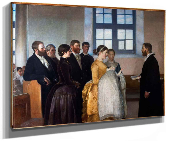 A Baptism By Michael Peter Ancher