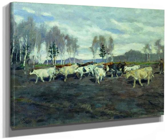 A Cowherd By Alexei Stepanov