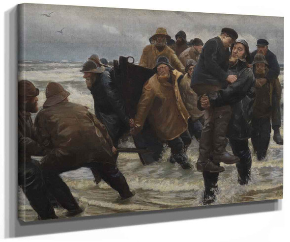 A Crew Rescued By Michael Peter Ancher
