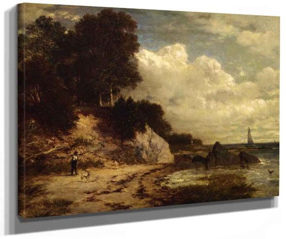 At Larchmont Manor Long Island Sound New York By David Johnson