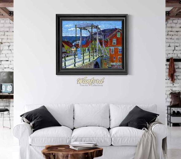 Canal Bridge Flekkefjord By Harold Gilman