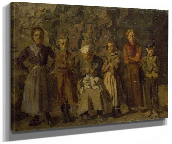 Cave Dwellers Dieppe By Harold Gilman