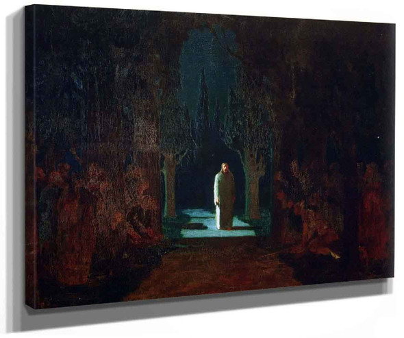 Christ In The Garden At Gethsemane By Arkhip Ivanovich Kuindzhi