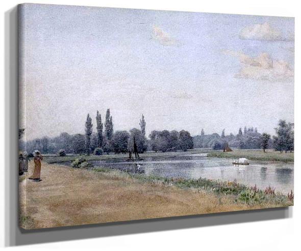 Elegant Figures By A River Bank By Sir Edward John Poynter