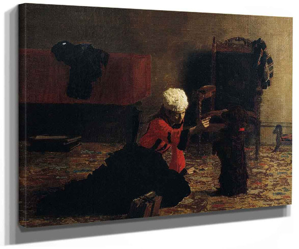 Elizabeth Crowell With A Dog By Thomas Eakins