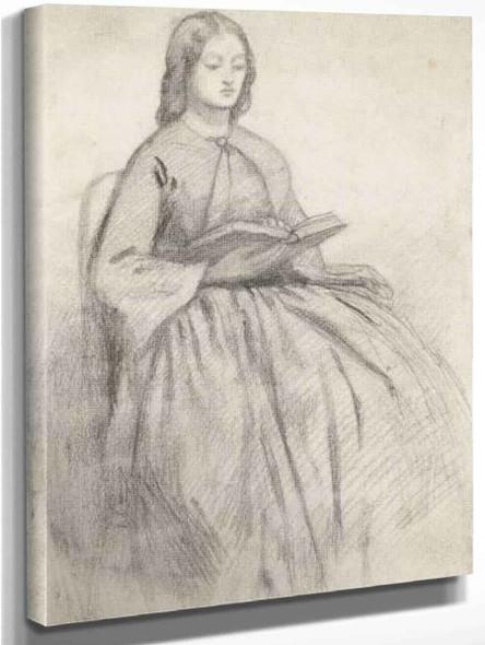Elizabeth Siddall In A Chair By Dante Gabriel Rossetti