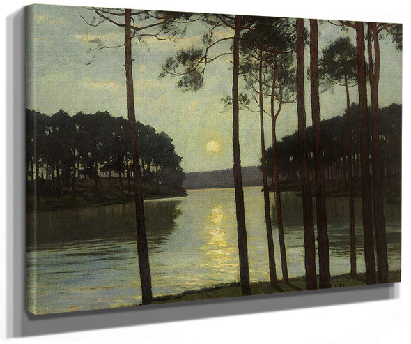 Evening Mood On The Schlachtensee By Walter Leistikow