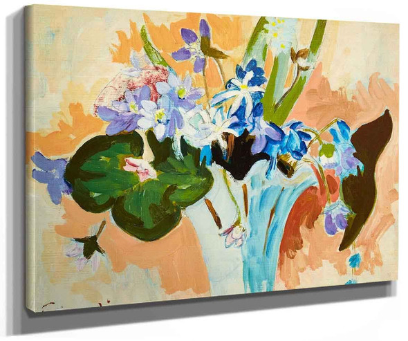 Floral Still Life With Spring Flowers By Isaac Grunewald