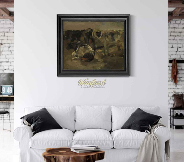 Four Cows By George Hendrik Breitner