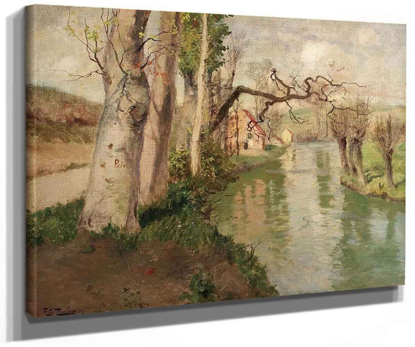 From Dieppe France With The River Arques By Fritz Thaulow