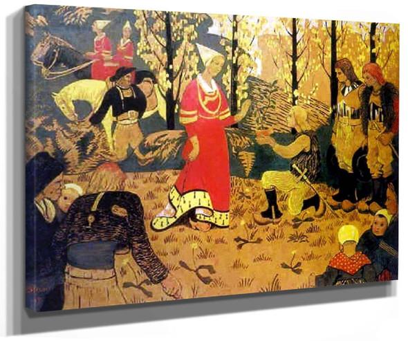 Hommage A La Duchesse En Sabots (Also Known As Dans La Forêt De Broceliande Hommage A La Duchesse Anne ) By Paul Serusier