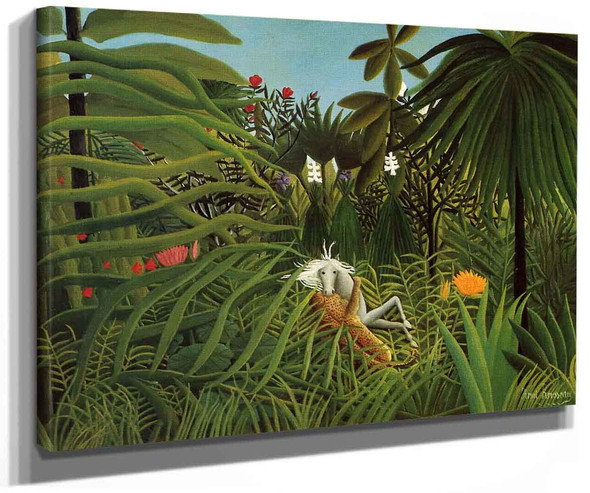 Horse Attacked By A Jaguar By Henri Rousseau
