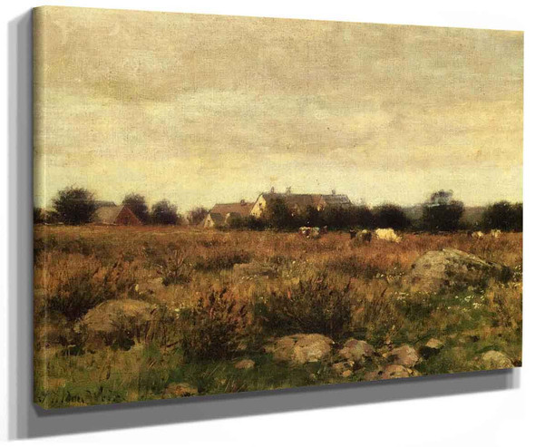 Houses In Pasture By Julian Alden Weir