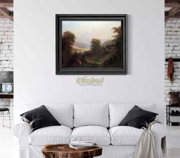 Hudson River Scene By David Johnson