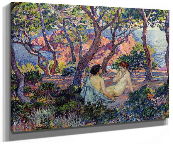 In The Shade Of The Pines By Theo Van Rysselberghe