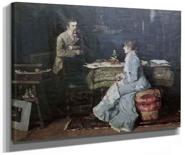 In The Studio By Fritz Von Uhde