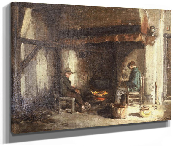 Interior In Kempen By Jules Adolphe Breton