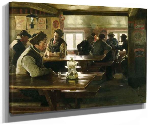 Interior Of A Tavern By Peder Severin Kroyer
