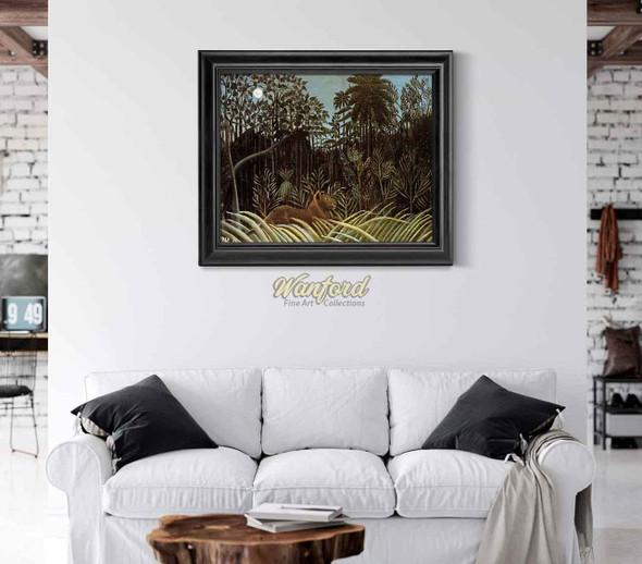 Jungle With Lion By Henri Rousseau
