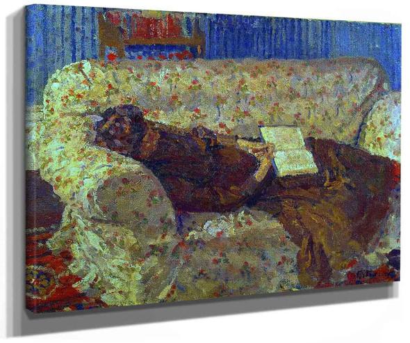 Lady On A Sofa By Harold Gilman