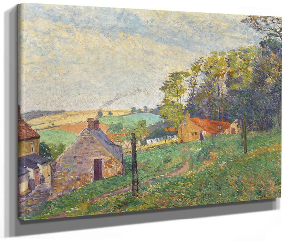 Landscape With Cottages By Spencer Gore