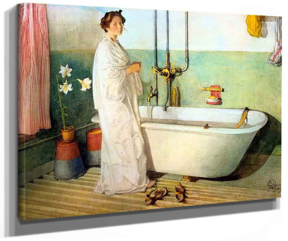 Lisbeth Prepares A Bath By Carl Larssonv