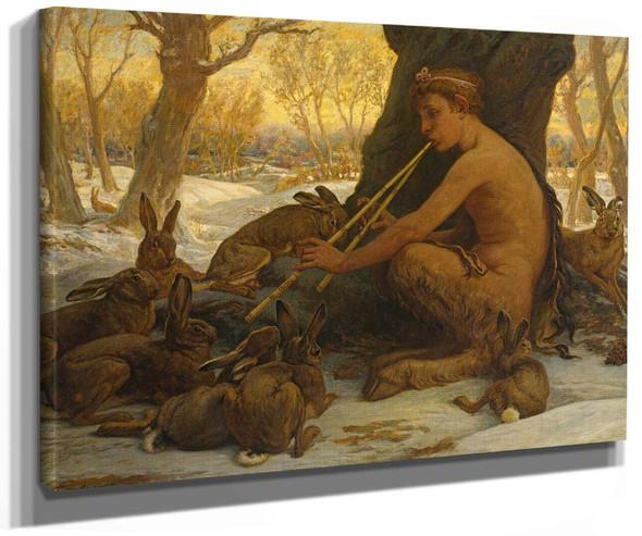 Marsyas Enchanting Young Hares By Elihu Vedder
