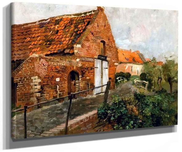 Masonry House With White Gate By Fritz Thaulow