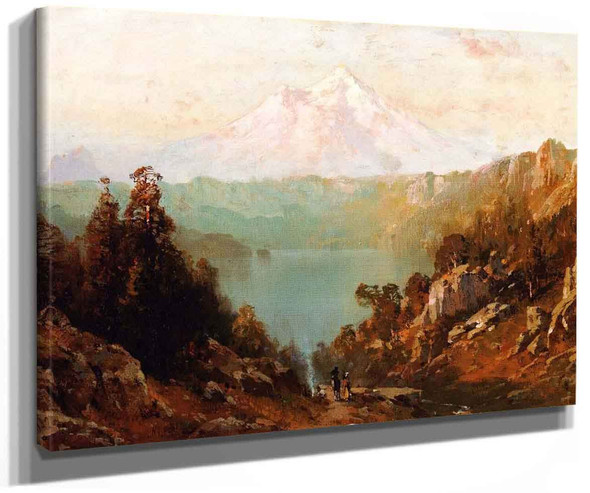 Mount Shasta From Castle Lake At Evening By Thomas Hill