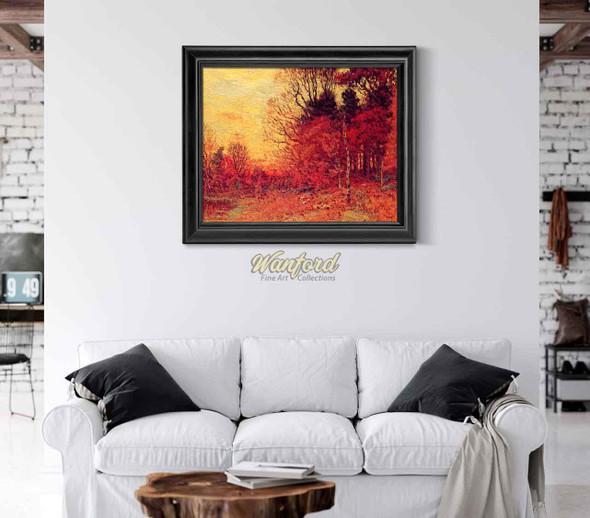 New England Autumn Landscape By John Joseph Enneking