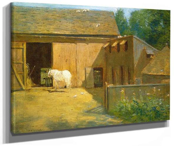 New England Barnyard By Julian Alden Weir