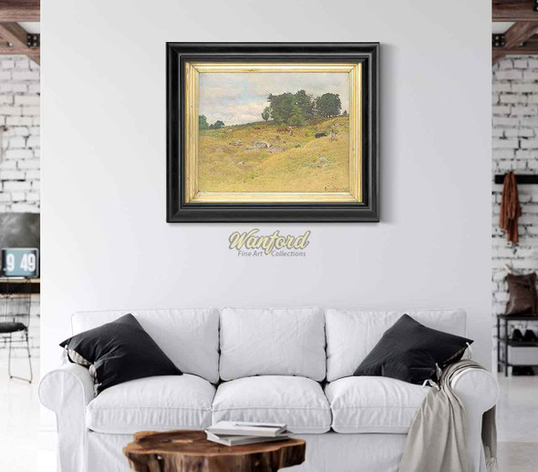 New England Hillside Spurr Pasture Otisfield Maine. By John Joseph Enneking