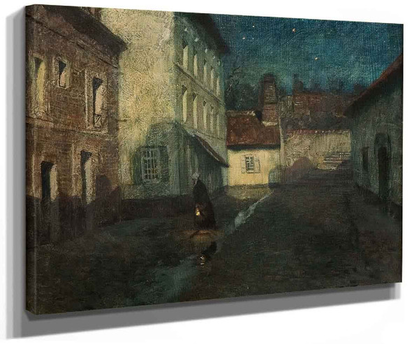 Night In Dieppe By Fritz Thaulow