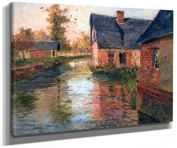 On The Banks Of The Arques By Fritz Thaulow