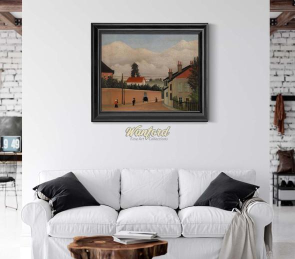 Outskirts Of Paris By Henri Rousseau