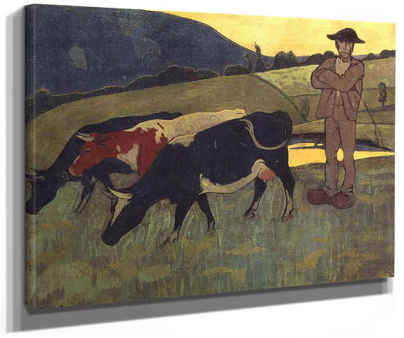 Peasant With Three Crows By Paul Serusier