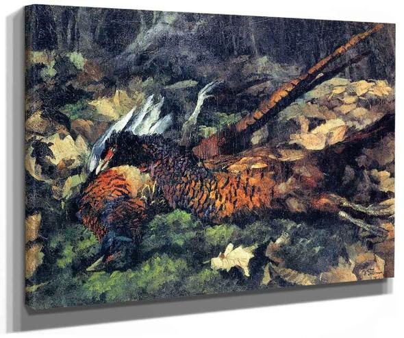 Pheasants By Wilhelm Trubner