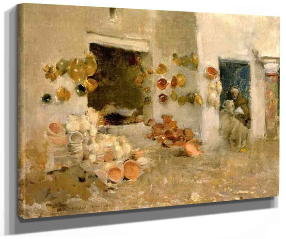 Pottery Shop At Tunis By Willard Leroy Metcalf