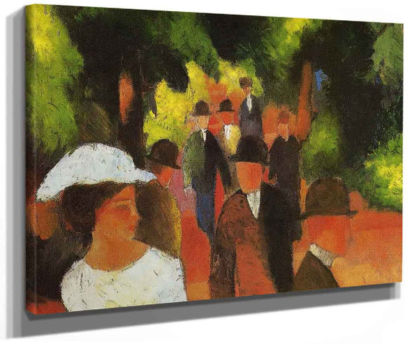 Promenade (With Half Length Of Girl In White) By August Macke