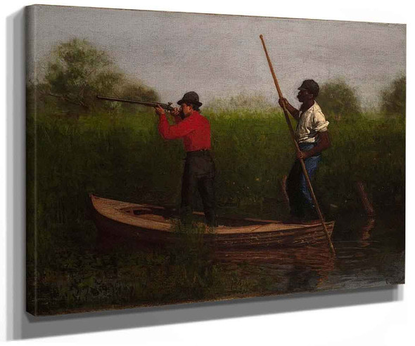 Rail Shooting On The Delaware (Also Known As Will Schuster And Blackman Going Shooting) By Thomas Eakins