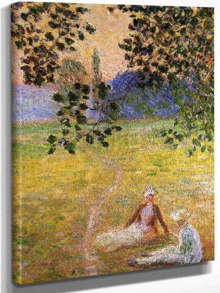 Evening In The Meadow At Giverny  By Claude Oscar Monet