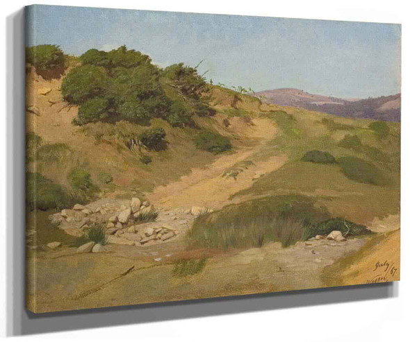 Sand Dunes By Elihu Vedder