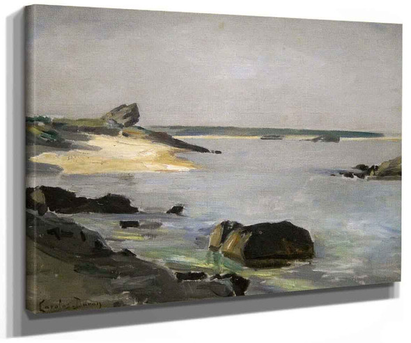 Seashore At Audresselles 1 By Charles Auguste Emile Durand