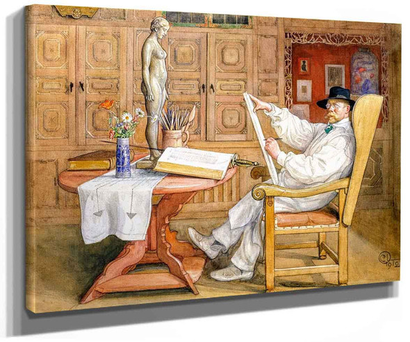 Self Portrait (Also Known As Self Portrait In The Studio) By Carl Larssonv