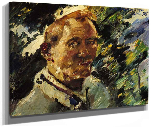 Small Self Portrait At The Walchensee By Lovis Corinth