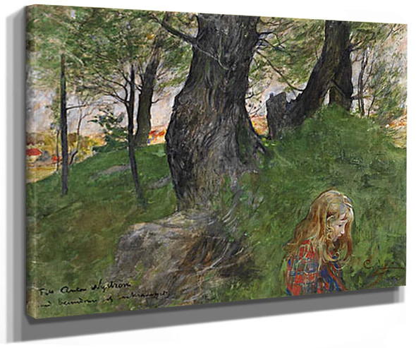 Suzanne In The Forest By Carl Larssonv