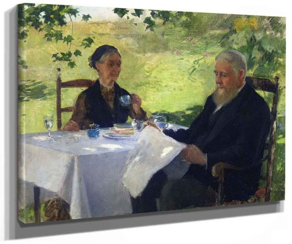 Tea On The Porch By Willard Leroy Metcalf