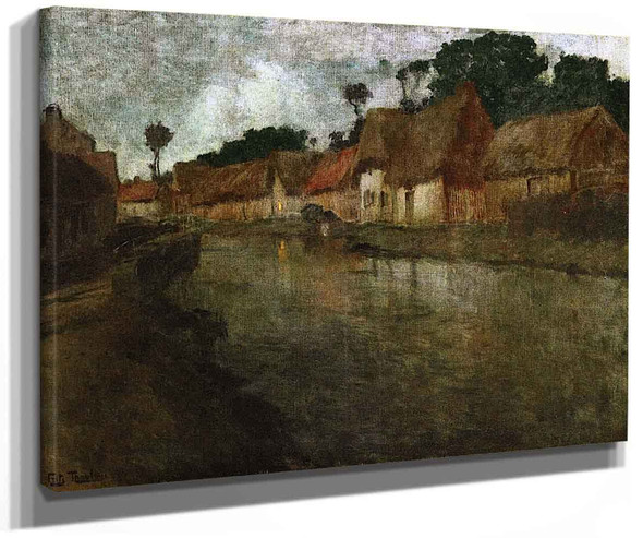 The Banks Of The River Arques By Fritz Thaulow