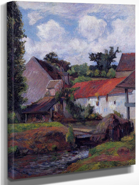 Farm In Osny  By Paul Gauguin